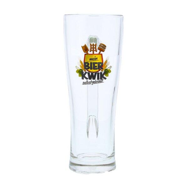 Aspen Seidel Glas 0,5 Liter geeicht mit Bier-Kwik® Logo - Aspen Seidel Glas 0,5 Liter geeicht mit Bier-Kwik® Logo