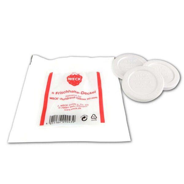 WECK® - Frischhaltedeckel (für Rundrand 60) - 5 Stück