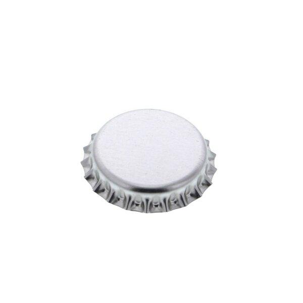 Crown caps 26 mm - SILVER, 100 pieces