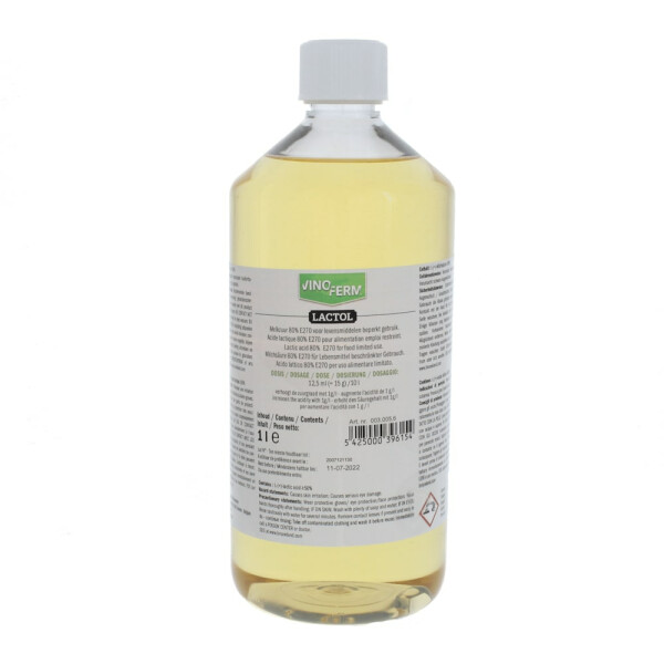 Lactic acid 80% VINOFERM lactol 1 litre