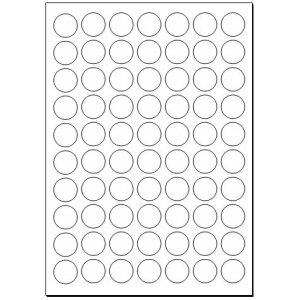 Adhesive labels, 24 mm circular, white, 700 labels (10...