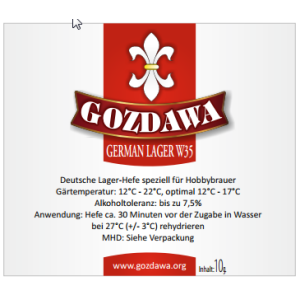 GOZDAWA German Lager W35 (GLW35) - untergärige...