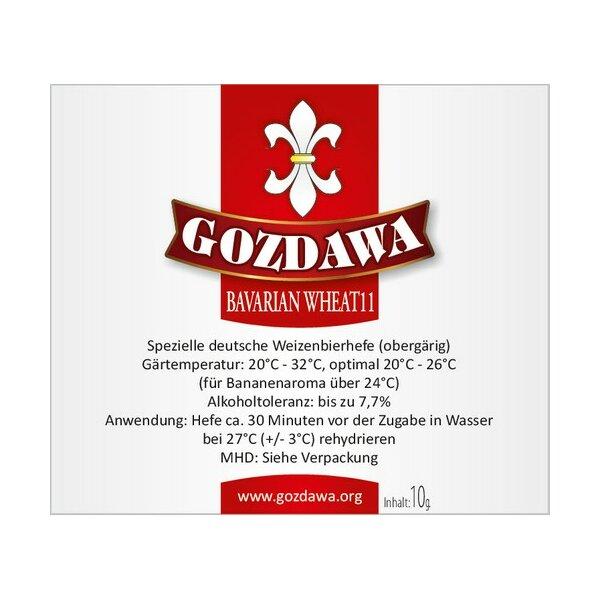 GOZDAWA Bavarian Wheat11 (BW11) - obergärige Weizenbier-Trockenhefe 10g