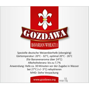 GOZDAWA BW11 - top-fermented wheat beer dry yeast  10 g