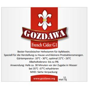 GOZDAWA French Cider G1 (FCG1) - obergärige...