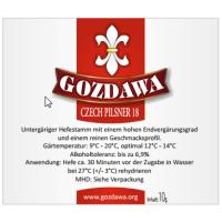 GOZDAWA Czech Pilsner 18 - bottom-fermented dry yeast 10g