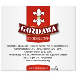 GOZDAWA Old German Altbier 9 - top-fermented dry yeast 10g