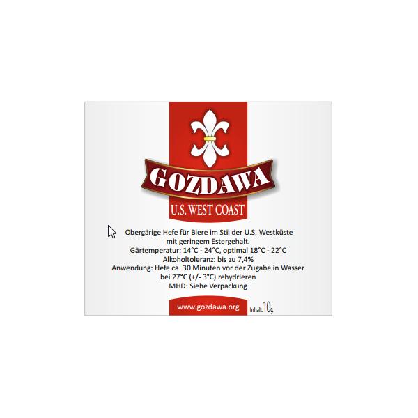 GOZDAWA U.S. West Coast (USWC) - obergärige Trockenhefe 10g