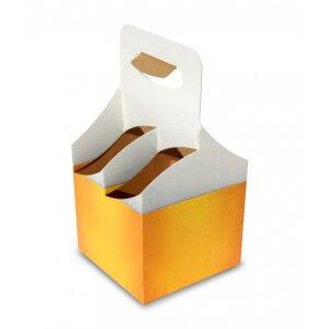 Carton crate of beer for 4 bottles - 10 pcs. kit