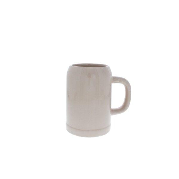 Beer mug of clay stone grey glaze 0.5 litre
