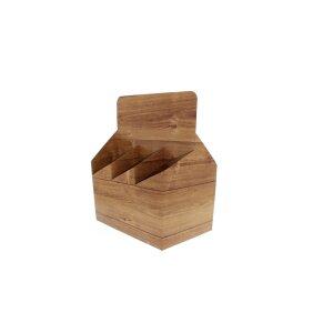 Carton crate of beer for 6 bottles - design: wood