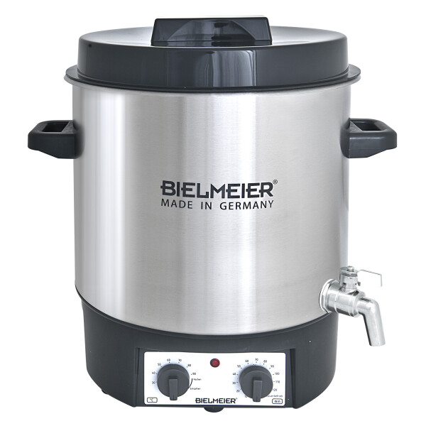 Bielmeier preserving cooker with 3/8  stainless steel discharge tap