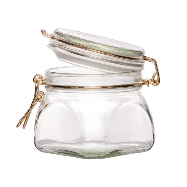 BIELMEIER Einmachglas / Drahtbügelglas / Set 6 Stück / 550 ml