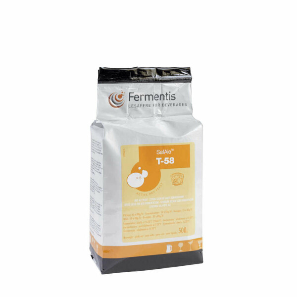 Safbrew T-58, top-fermented dry yeast 500 g