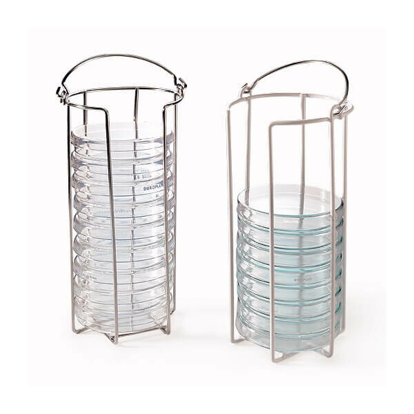 Frame for 10 petri dishes