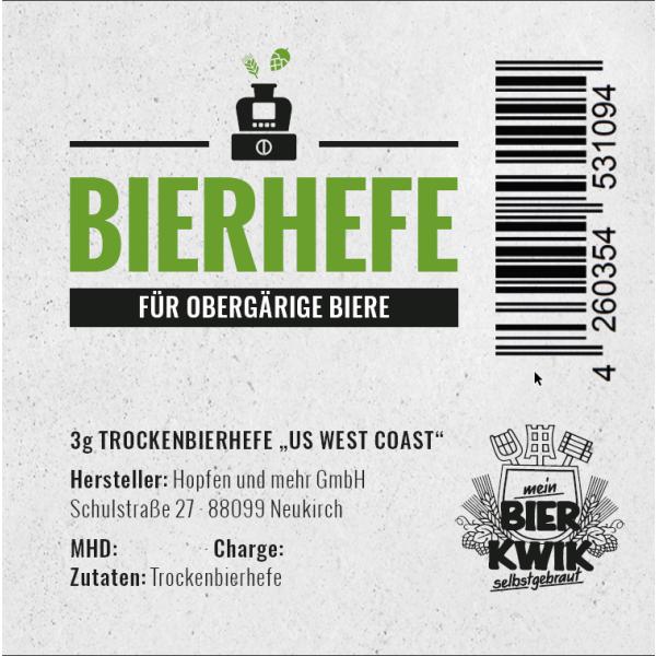 Bier-Kwik® top fermenting yeast 3 g - West Coast