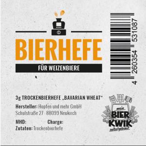 Bier-Kwik® dry yeast - Bavarian Wheat 3 g