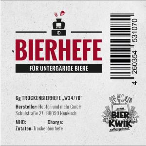 Bier-Kwik® untergärige-Trockenhefe 6 g -...
