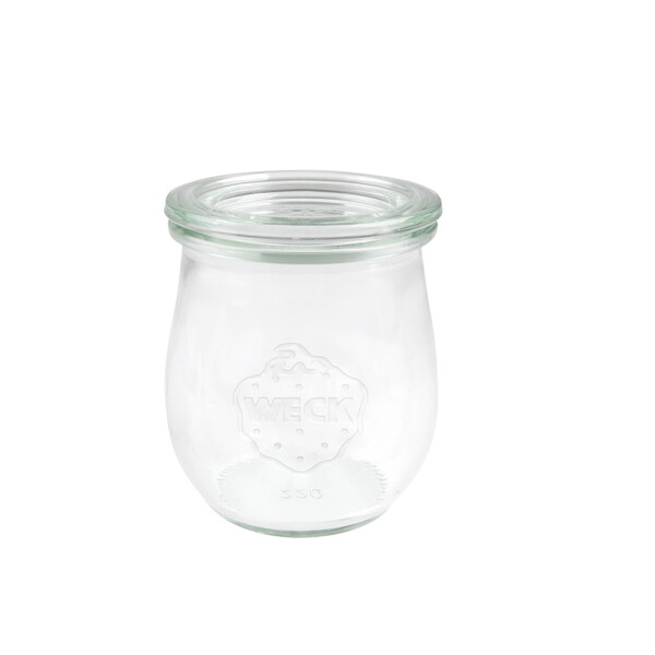 WECK® tulip glass 220 ml (round border 60) - 12 glasses with glas lid