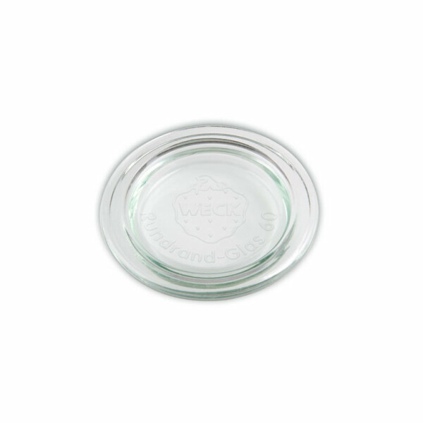 WECK®  replacement glass lid round border 80