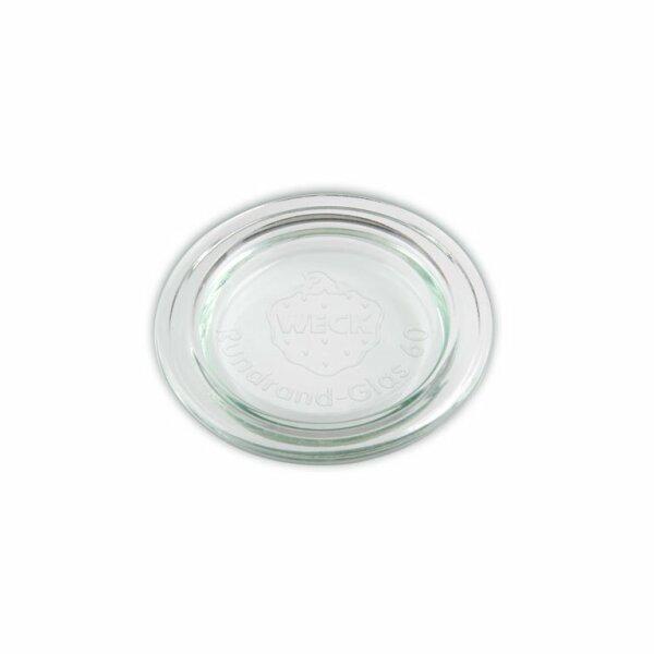 WECK® Ersatz Glasdeckel Rundrand 60