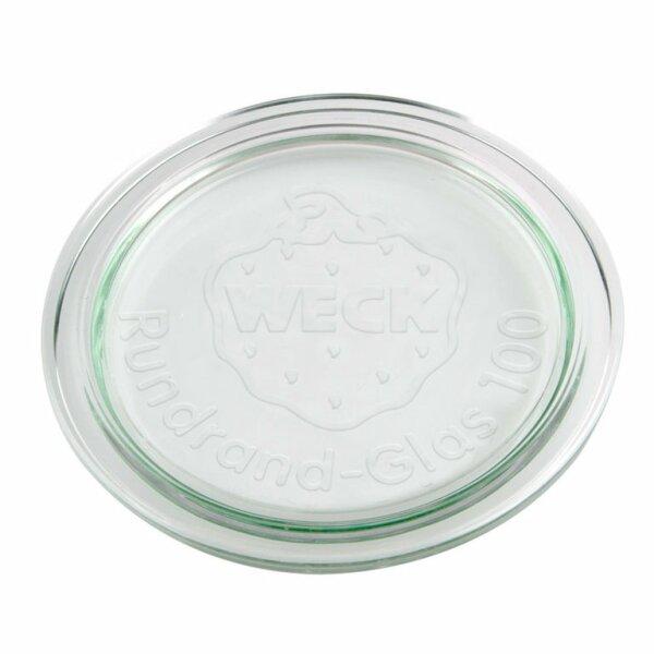 WECK® Ersatz Glasdeckel Rundrand 100
