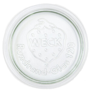 WECK® replacement glass lid (round border 120)