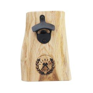 Flaschenöffner mit Magnet aus Holz