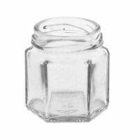 Sechseckglas 47 ml für Schraubverschlussdeckel