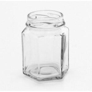 Sechseckglas 110 ml für Schraubverschlussdeckel