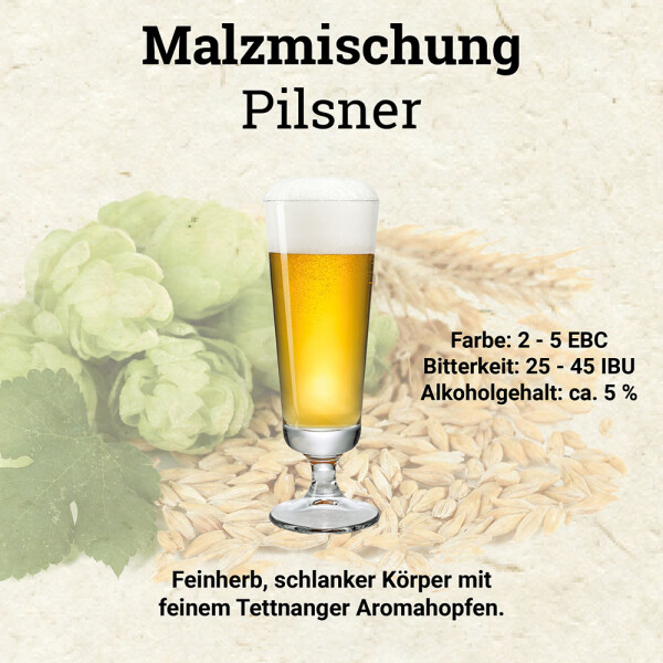 HUBL Malzmischung Pilsner - 30 Liter