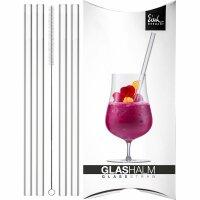 Glassstraws clear - 4 pieces