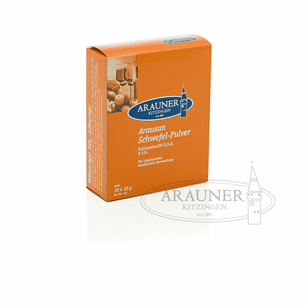 Arausan sufur powder 10 x 10 g