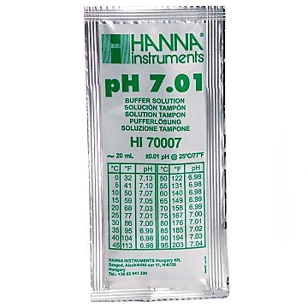 Kalibrierlösung pH 7,01 ; Standardqualität - 25 x 20mL-Beutel