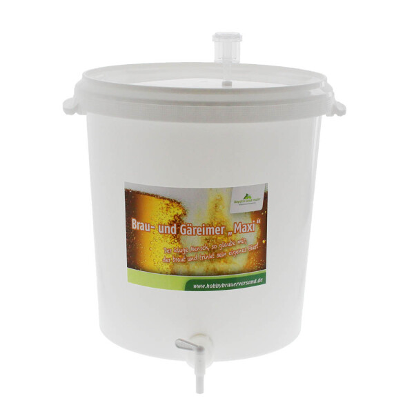 Brewing and fermentation bucket 30 litre