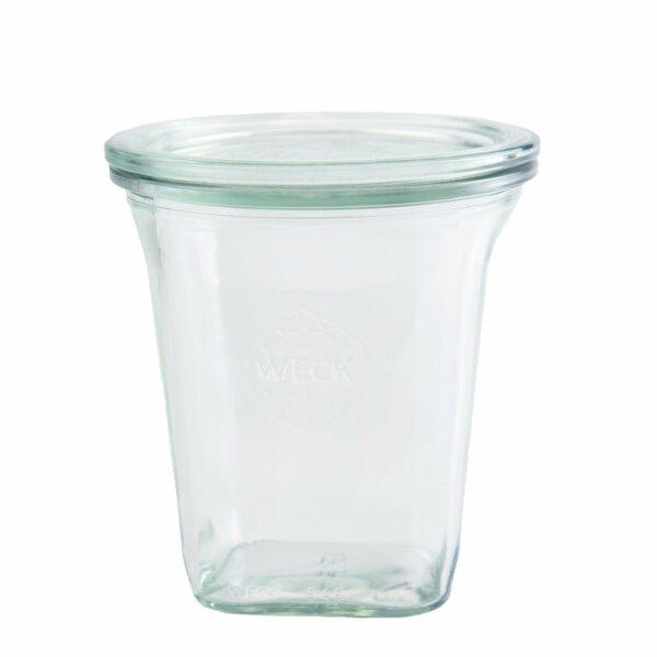 WECK®-Quadroglas 545 ml (Rundrand 100) 6 Gläser / Karton