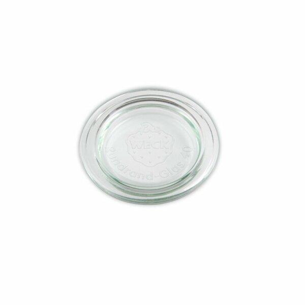 WECK® Ersatz Glasdeckel Rundrand 40