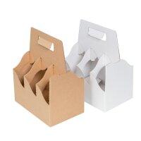 Bottle carrier made of cardboard six pack