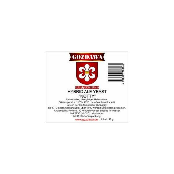 GOZDAWA Hybrid Ale Yeast Notty (HAY) - top fermenting dry yeast 10 g