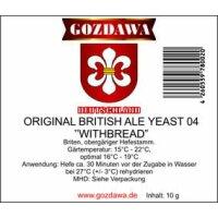 GOZDAWA Original British Ale Yeast 04 Whitebread (OBAY04) - top fermenting dry yeast 10 g