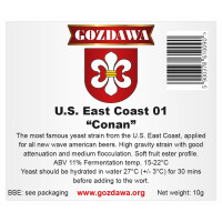 GOZDAWA U.S. East Coast 01 Conan (USEC01) - top fermenting dry yeast 10 g