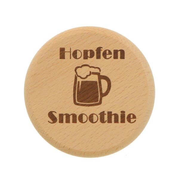 Bierglas Deckel aus Holz - Hopfen Smoothie