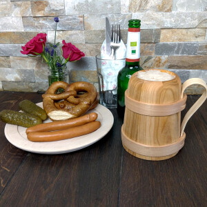 Beer mug Römer made of cherry wood