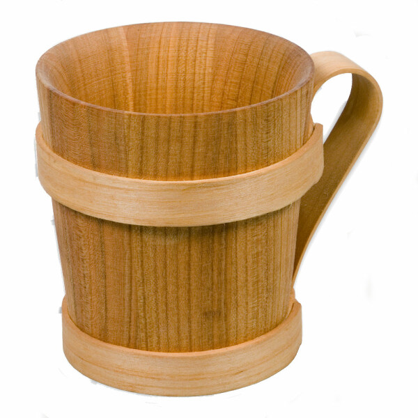 Beer mug Kelch made of cherry wood