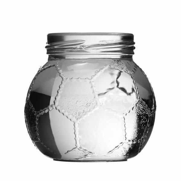 Football screw top glass 212 ml