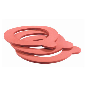 Replacement rubber for wire clip glass 52 x 80 (10 pieces)