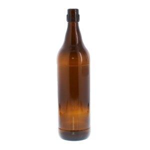 6 flip-top bottles 1 liter brown - incl. Clip-lock